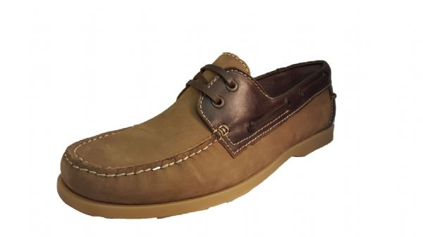 A simply perfect spring/summer mens nubuck deck shoe from Padders.